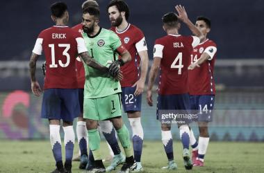 Jugadores de la Selección Chilena