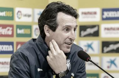 """<p class=""""MsoBodyText"""">Emery durante la rueda de prensa / Foto: Villarreal C.F&nbsp;<o:p></o:p></p>"""