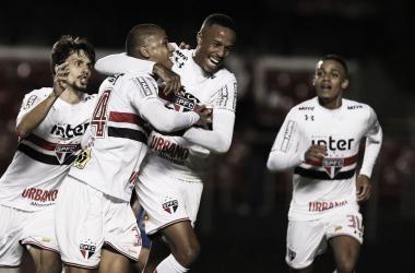 Bruno Alves fez o único gol da partida (Foto: Rubens Chiri/saopaulofc.net)