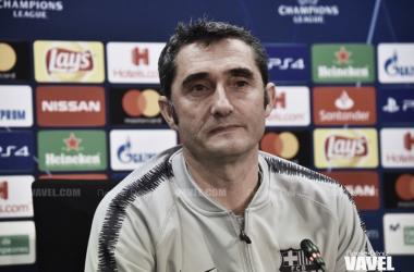 Ernesto Valverde en una rueda de prensa | Foto de Noelia Déniz, VAVEL