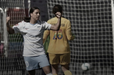 Samantha Kerr scored a hat trick for the Chicago Red Stars. Photo: NWSLSoccer.com