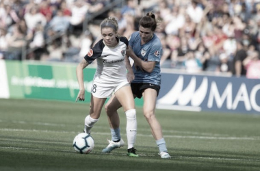 The Chicago Red Stars defeated the North Carolina Courage in front of a new record attendance for a stand alone home match. Photo: www.twitter.com/thenccourage