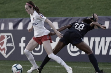 Rose Lavelle, the winner of the Bronze Ball at the World Cup, made her return to the NWSL in front of a sold-out crowd at Yurcak Field. Photo: NWSLSoccer.com
