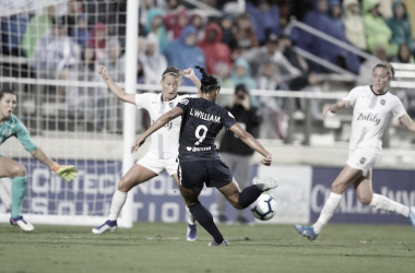 Lynn Williams scored for the Courage in the 82nd minute. Photo: www.twitter.com/thenccourage