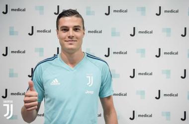 Andrea Favilli durante le sue recenti visite dopo il trasferimento alla Juve. | @JuventusFC, Twitter.