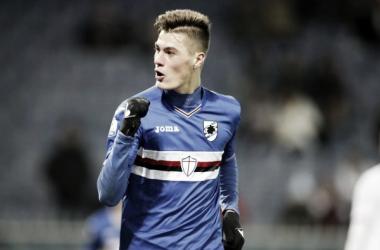 Schick festeggia uno dei suoi 12 gol in campionato con la Sampdoria in questa stagione. | radiogoal24.it
