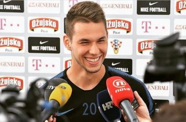 Marko Pjaca durante delle interviste recenti. | @marko_pjaca20, Twitter.