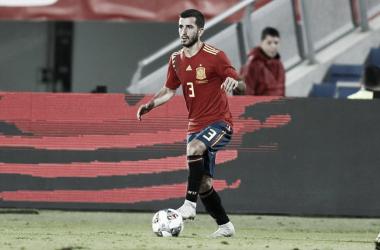 José Luis Gayà durante el encuentro de la Selección Española de Fútbol frente a Bosnia el pasado domingo. Fotografía: Selección de fútbol de España