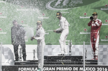 Los tres del podio (aún no era confirmado lo de Ricciardo) | Foto: Fórmula 1