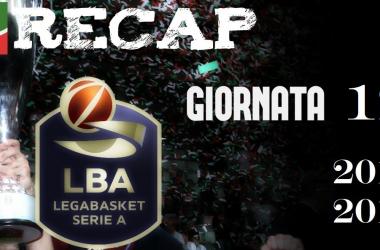 Legabasket Serie A: risultati e tabellini della 12esima giornata