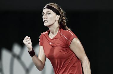 Puño apretado para Kvitova   Foto: WTA