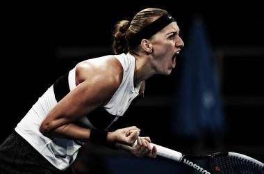 El grito de festejo de Kvitova   Foto: Australian Open