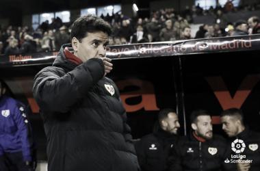 Míchel durante el partido ante el Leganés   Fotografía: LaLiga Santander