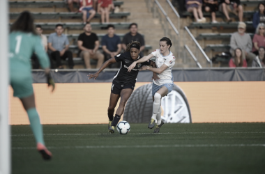 The North Carolina Courage and the Chicago Red Stars open the 2019 NWSL season with a 1-1 draw. Photo: www.twitter.com/ChiRedStarsPR