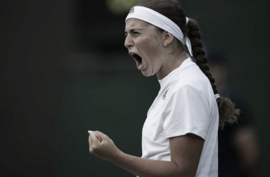 Ostapenko festeja el triunfo | Foto: Wimbledon