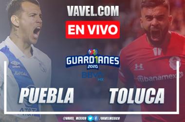 Goles y resumen: Puebla 4-1 Toluca en Guard1anes 2020