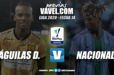 Previa Águilas Doradas vs Atlético Nacional: duelo de antioqueños