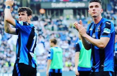 Marten De Roon e Rubin Gosens al termine della gara di oggi. | Atalanta B.C., Twitter.
