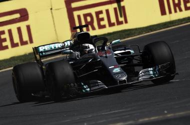 Hamilton en el Albert Park | Foto: Fórmula 1