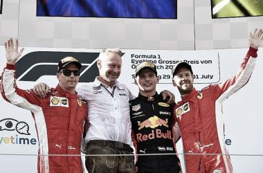 Los hombres del podio | Foto: Fórmula 1