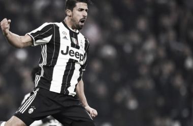 Sami Khedira esulta per un suo gol con la maglia della Juventus. | tuttosport.com