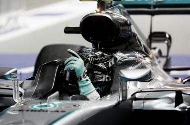 Nico festejando el triunfo   Foto: Fórmula 1