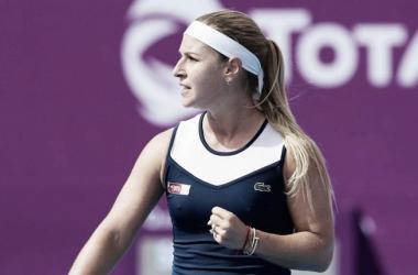 Cibulkova con el puño apretado | Foto: WTA de Doha
