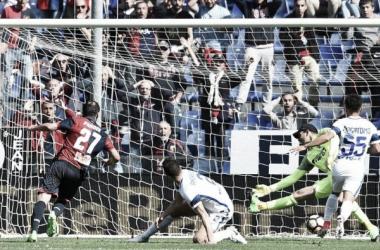 Il gol di Goran Pandev, decisivo nell'ultimo Genoa-Inter. | lastampa.it