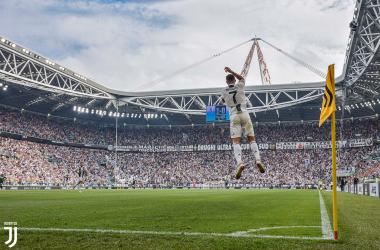 Una delle due esultanza di ieri di Cristiano Ronaldo. | @juventusfc, Twitter.
