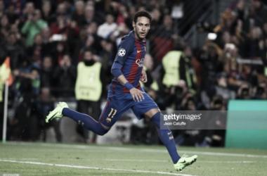 Neymar em ação pelo Barcelona.