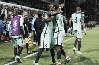La festa di Quaresma dopo il gol alla Croazia. Fonte foto: Squawka.com