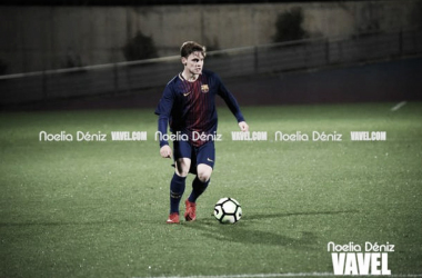 Sergio Gómez jugando un partido con el Juvenil A l Foto: Noelia Déniz - VAVEL