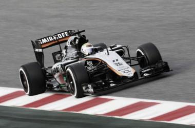 Force India apenas testou o novo carro na última semana, por dívidas aos fornecedores (foto: Force India)