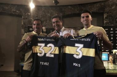 Carlos Tevez e Emmanuel Mas, due acquisti oggi ufficializzati dagli argentini. | bocajuniors.com.ar