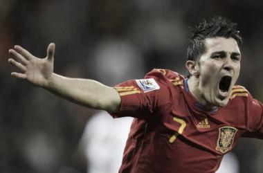 David Villa durante una delle sue apparizioni con la Nazionale spagnola. | Aliexpress.