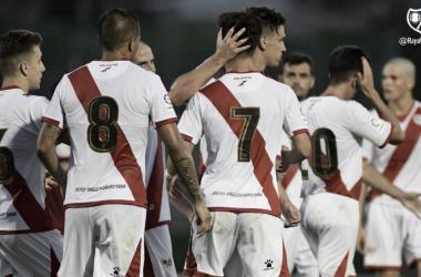 Celebración del gol de Álex. Foto: Rayo Vallecano S.A.D.