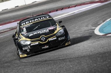 Pernía a bordo del Fluence GT | Foto: Renault Sport Argentina