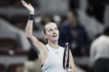 Kvitova gana de local | Foto: WTA