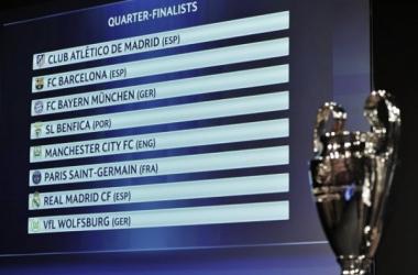 Conheça os duelos doa quartos de final da Liga dos Campeões (Fonte: uefa.com)