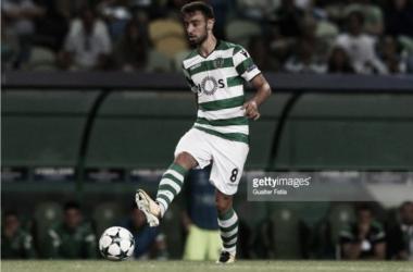 Bruno Fernandes em ação, no jogo da primeira mão.