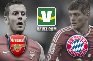 Arsenal e Bayern reeditam duelo em busca de vaga nas quartas da Champions