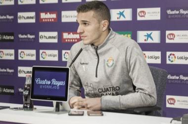 Jordi Masip en rueda de premsa del José Zorrilla. Fotografía: Real Valladolid