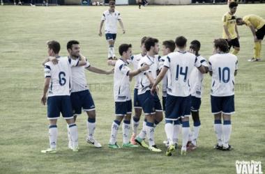 El filial celebra un gol la temporada pasada (Foto: Andrea Royo | VAVEL).
