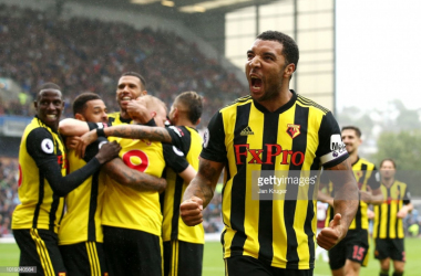 Troy Deeney both scored and assisted a goal in a 3-1 win against Burnley