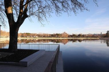 Lago de la Casa de Campo, Madrid, tras su remodelación. Fuente: WikiCommons