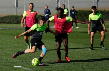 El Granada CF durante un entrenamiento. Foto: Pepe Villoslada / Granada CF.