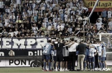 Piña tras el partido de playoff ante el Deportivo. | Foto: Málaga CF