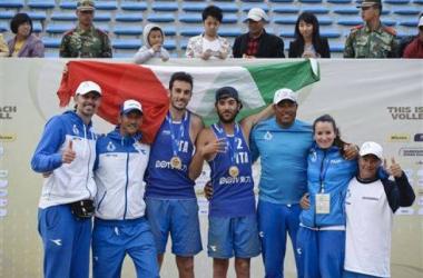 Beach Volley: Ancora oro, bissato il successo per gli azzurri Lupo e Nicolai