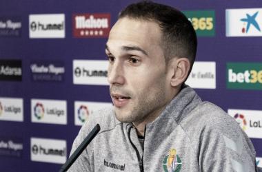 Nacho en la rueda de prensa // FUENTE: Real Valladolid