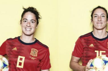 Las históricas Silvia Meseguer y Marta Torrejón ponen fin a sus ciclos como internacionales con España | Fotografía: FIFA